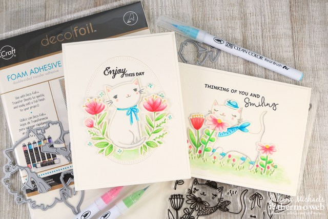 No Line Watercoloring and Dimension with Waffleflower Stamps and Therm O Web Foam Adhesive