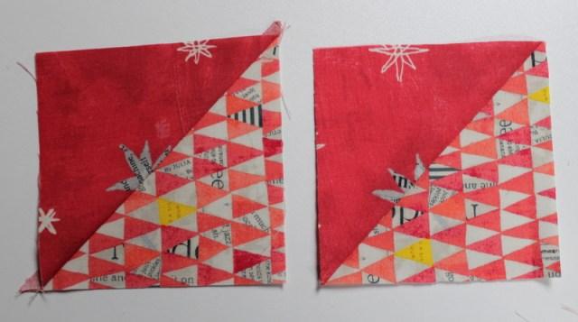 press half square triangles open