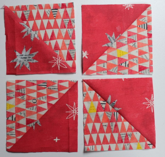 arrange half square triangles