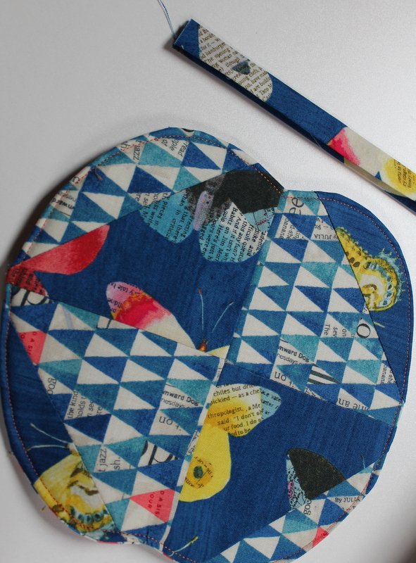 quilt and add biased stem