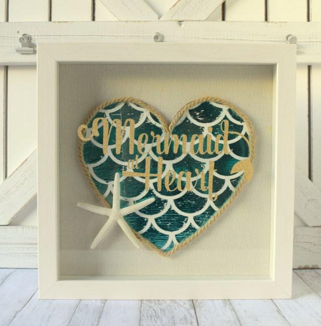 Mermaid Heart Summer Home Decor with Deco Foil