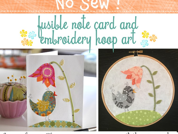 No Sew Embroidery Hoop Art and Card