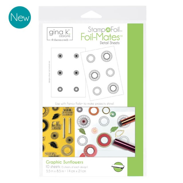 Gina K. Designs Foil-Mates - Graphic Sunflowers
