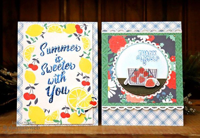 Deco Foil Transfer Gel Fruit Themed Cards