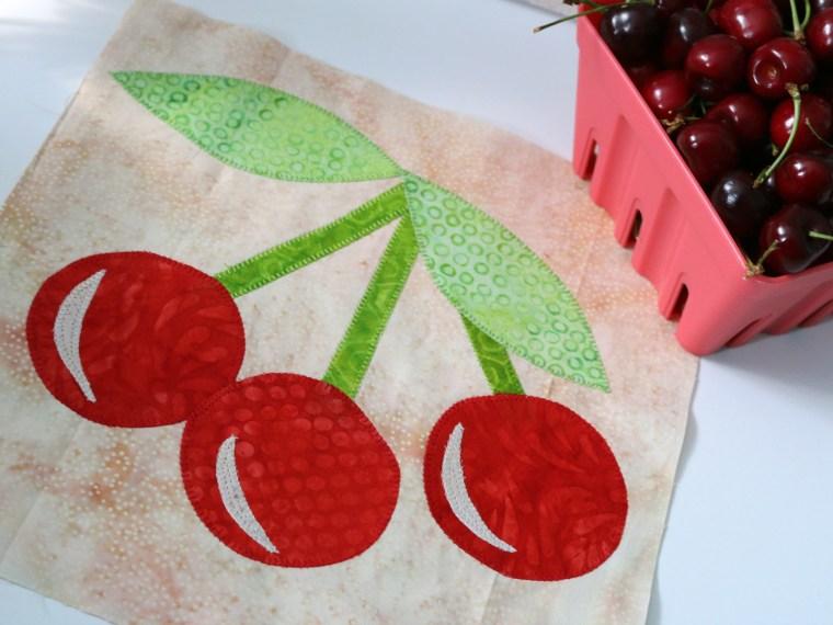 Sweet Cherries ThermOWeb Quilt Block