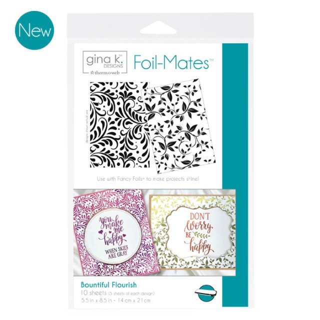Gina K. Designs Foil-Mates Backgrounds - Bountiful Flourish
