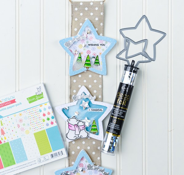 Holiday Shaker Banner with Therm O Web and Lawn Fawn