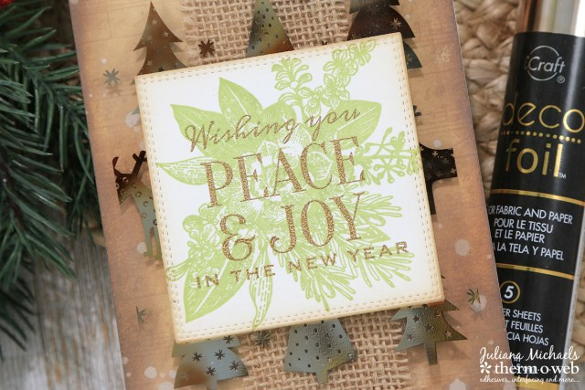Holiday Card with Therm O Web Deco Foil and Clear Toner Sheets by Juliana Michaels