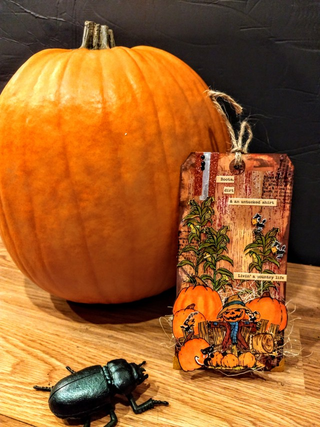 Just a Little Country Mixed Media Tag
