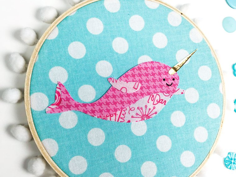Narwhal Applique Home Decor