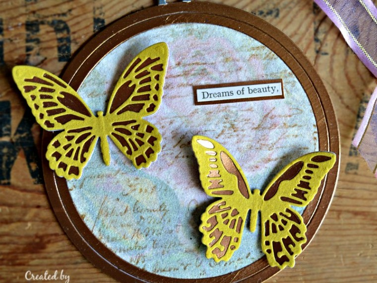 Butterfly Dreams Hoop Ornament