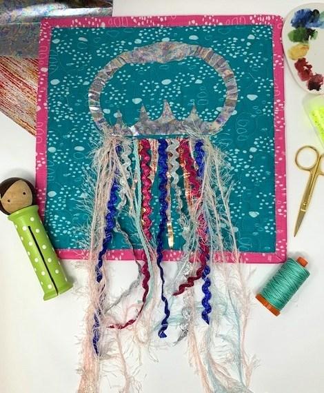 Deco Foil JellyFish Mini Quilt
