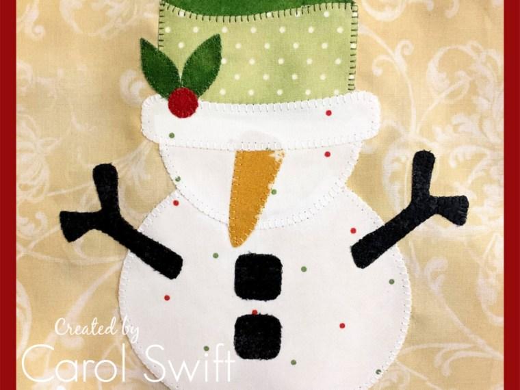 Christmas Block Sew Along Snowman