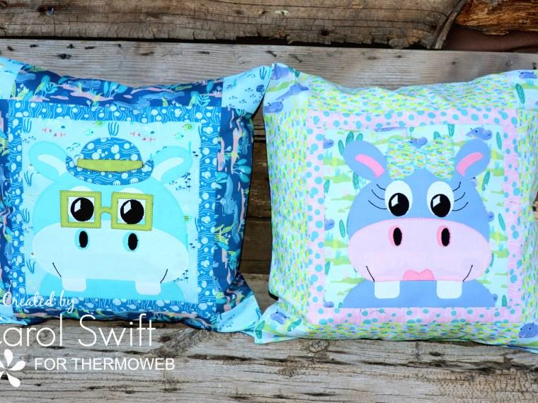 Congo Hippo Pillows