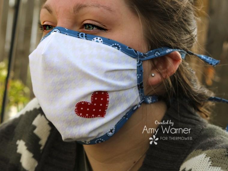 Heart Fabric Face Mask