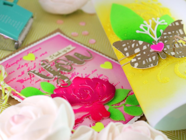 Neon Flower Card and Gift Box