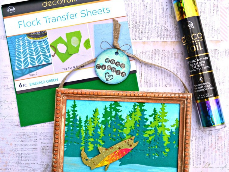 Gone Fishing with Deco Foil Flock