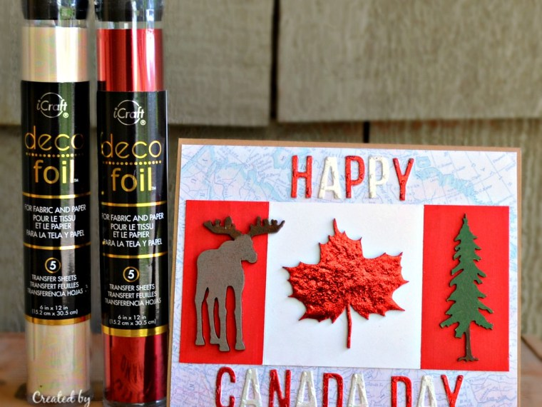 Happy Canada Day Card with Deco Foil