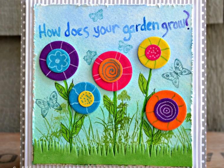 Mixed Media Flower Garden Plaque
