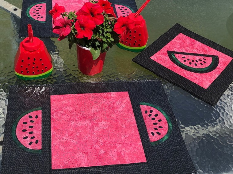 Laminated Watermelon Placemats