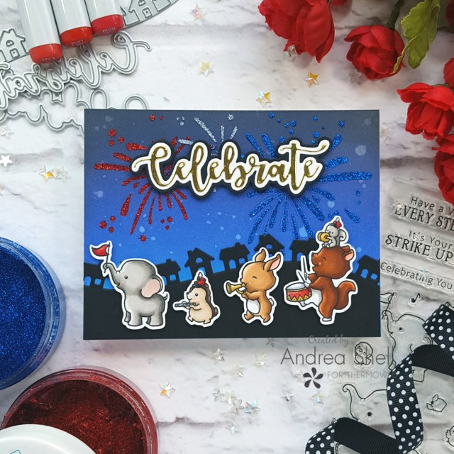 Animal Parade Card by Andrea Shell | Strike Up the Band stamp by Sugar Pea Designs
