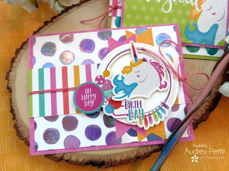 Unicorn Card with Deco Foil