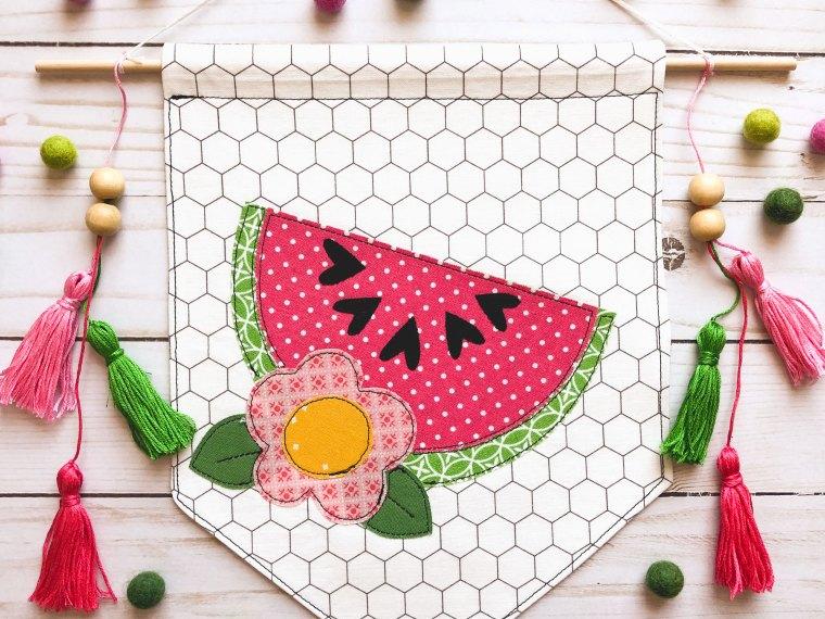 Watermelon Applique Banner