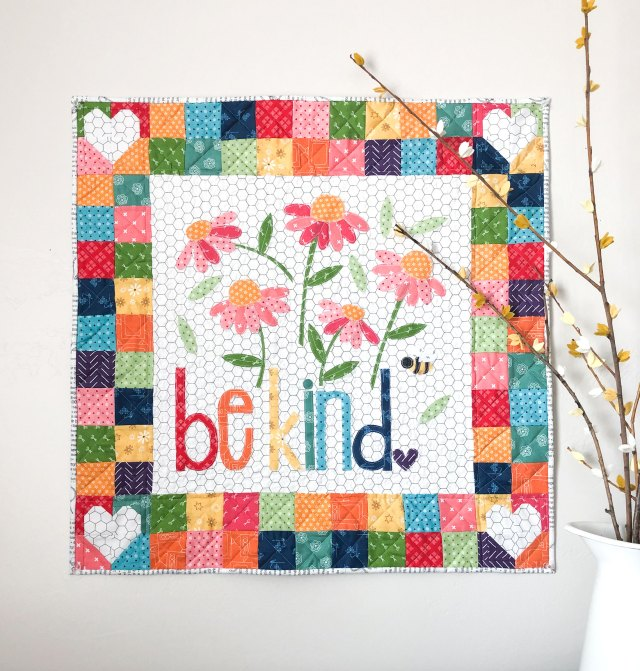 Be Kind Word Mini Quilt
