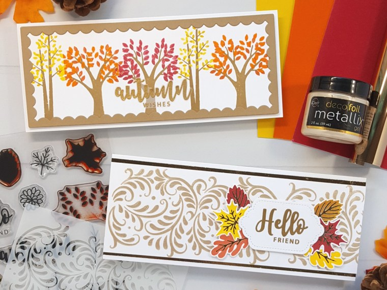 Autumn Slimline Cards with Gina K. Designs