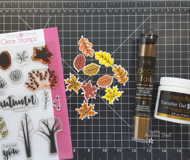 Slimline fall cards by Andrea Shell | Autumn Wishes StampNStencil by Therm O Web