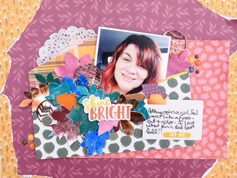 Bright Fall Smile Layout with Brutus Monroe