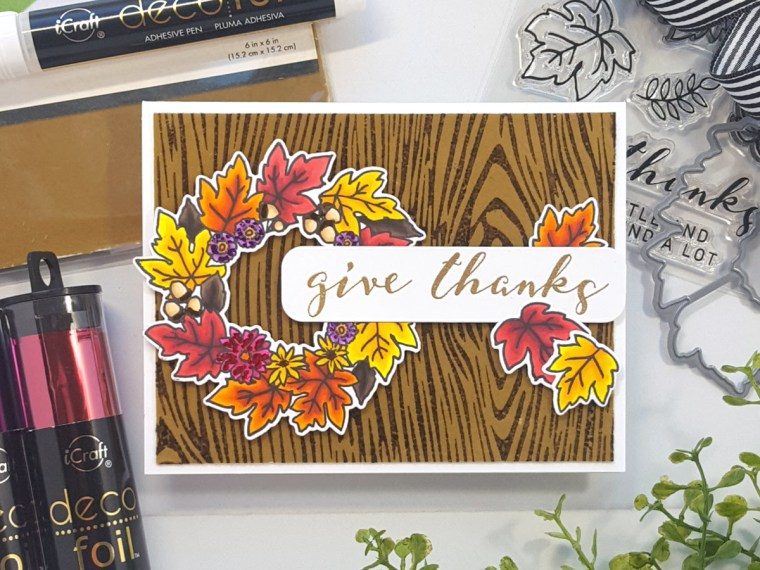 Give Thanks Card with Reverse Confetti