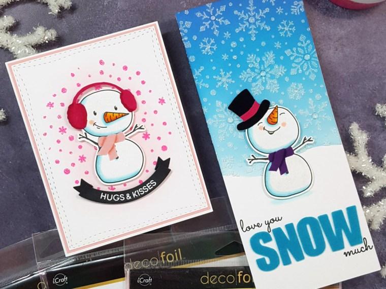 Texture Snowman Cards