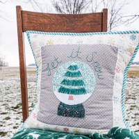 Let it Snow: A Winter Snowglobe Pillow with HeatnBond Interfacing