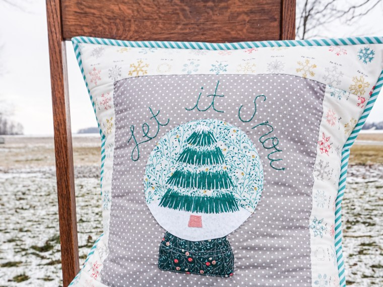 Winter Snowglobe Pillow