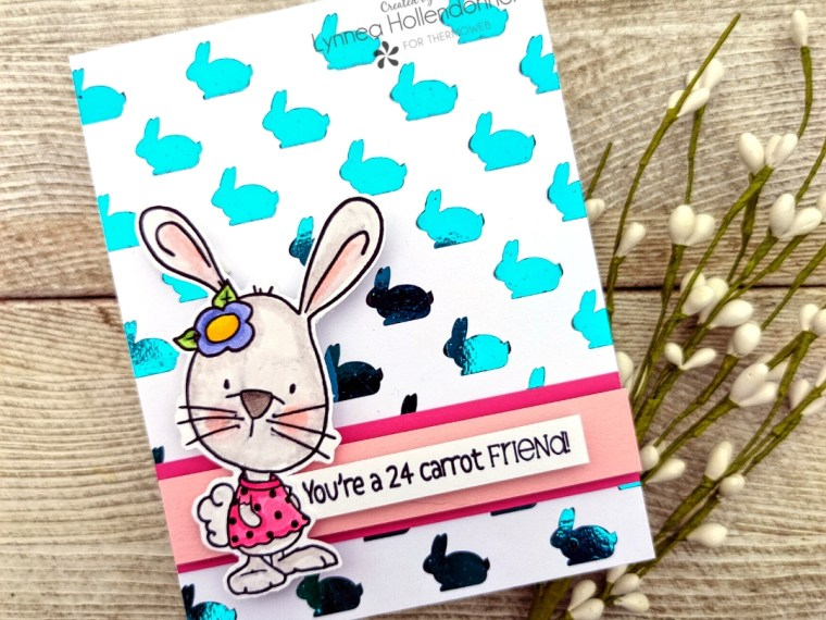 Easter Bunny Card with Deco Foil