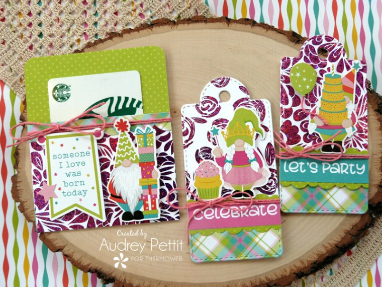 Spring Tags with Deco Foil