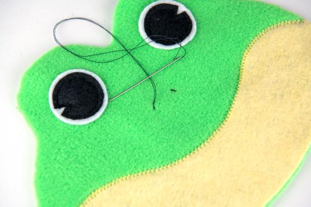 frog bean bag stitch nose