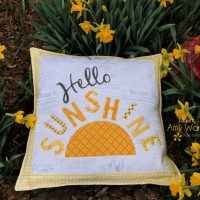 Hello Sunshine Pillow Cover with HeatnBond EZ Print Adhesive Sheets