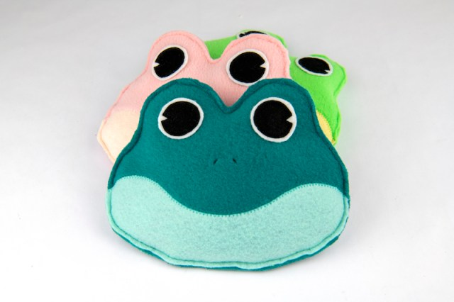 finished frog bean bags