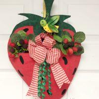 Fabric Strawberry Door Pocket with SpraynBond Fabric Stiffener Spray