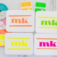 Neon Flock Monogram Notecard Gift Set