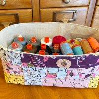 Sew a Fabric Storage Basket with HeatnBond Fusible Fleece