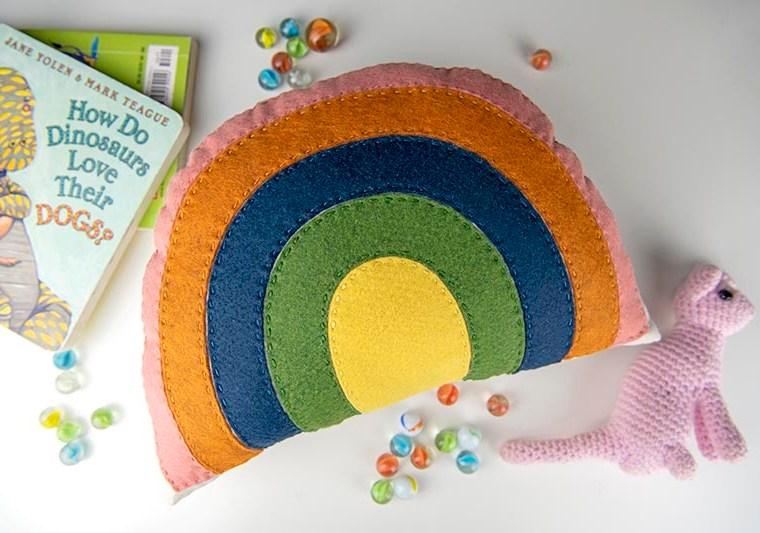 finished rainbow softie
