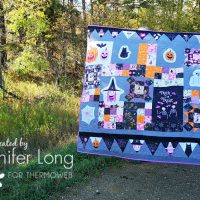 Spooky and Sweeter Halloween Quilt using Fabric Panels and Raw-Edge Applique