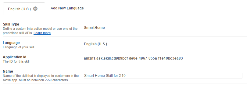 Amazon Developer Smart Home Skill