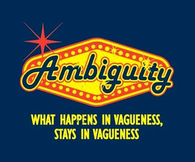 AmbiguityInVagueness