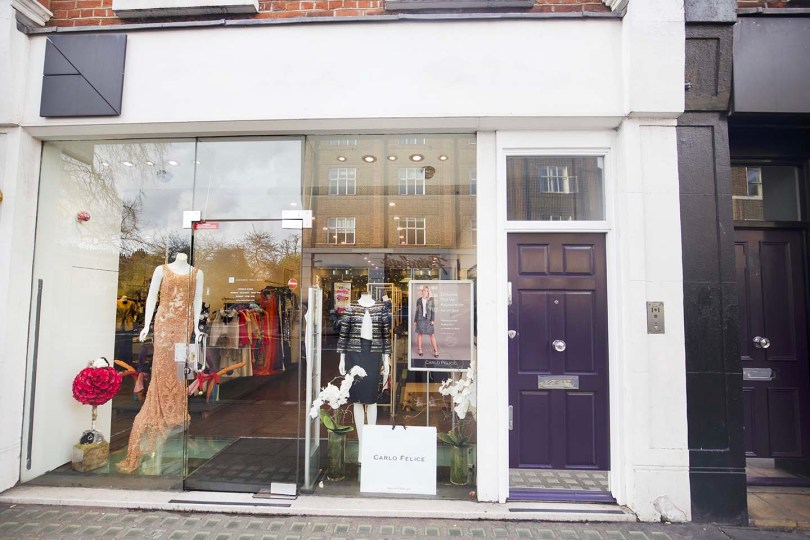 London fashion pop-up shop