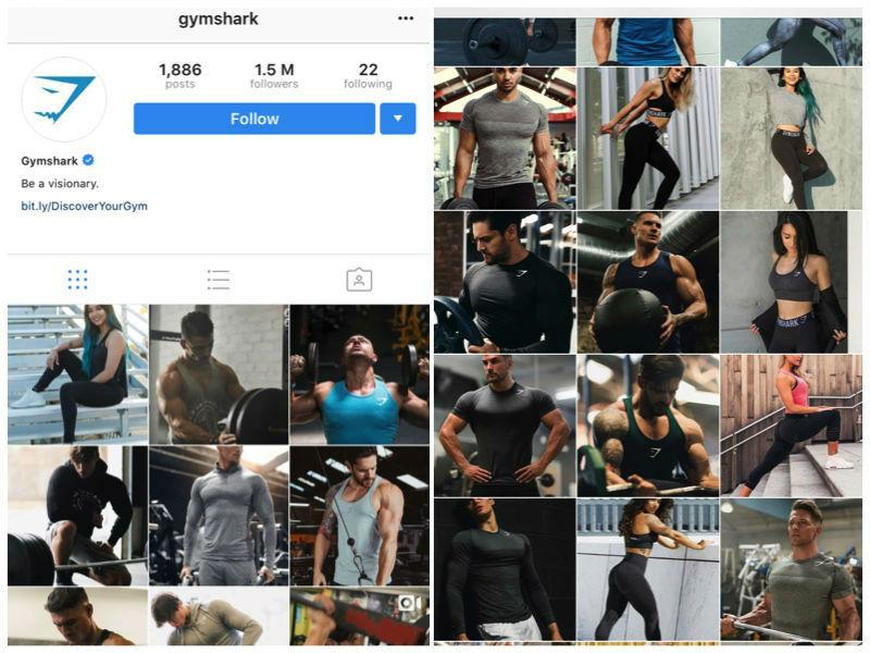 Gymshark Instagram