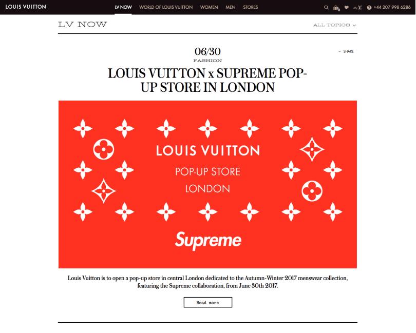 Louis Vuitton pop-up store London